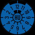 HU Plakette blau