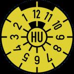 HU Plakette gelb