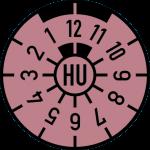 HU Plakette rosa