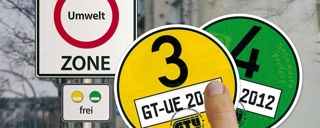 Feinstaubplakette Schadstoffplakette Umweltzone